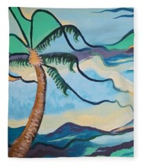Jamaican Sea Breeze Fleece Blanket