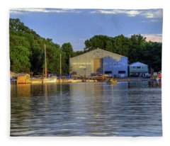 James River Marina 2 Fleece Blanket