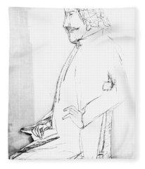 James Whistler's Portrait Fleece Blanket