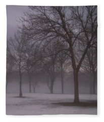 January Fog 4 Fleece Blanket