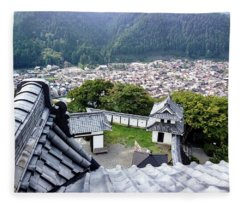 Japan - Gujyo Hachiman Castle 2 Fleece Blanket