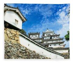 Japan - Himeji Castle Fleece Blanket