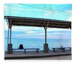 Japan - Shimonada Station Fleece Blanket