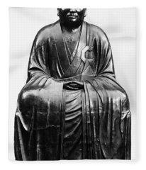 Japan: Zen Priest Fleece Blanket