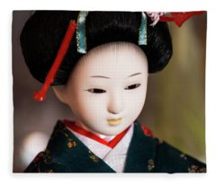 Japanese Doll Fleece Blanket
