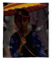 Japanese Girl Fleece Blanket