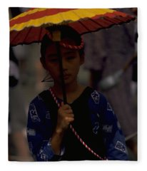 Japanese Girl Fleece Blanket