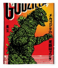 Japanese Godzilla  Fleece Blanket