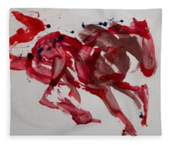 Japanese Horse Fleece Blanket