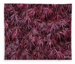 Japanese Maple Garnet Fleece Blanket