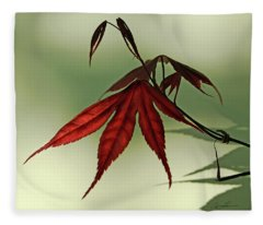 Japanese Maple Leaf Fleece Blanket