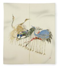 Japanese Modern Interior Art #125 Fleece Blanket