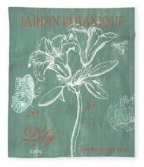 Jardin Botanique Aqua Fleece Blanket