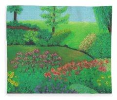 Jardin De Juillet Fleece Blanket