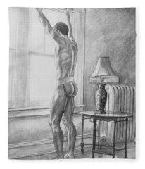 Jason At The Window Fleece Blanket