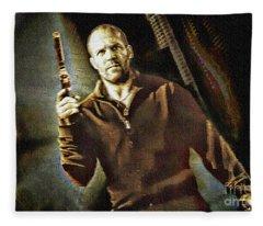 Jason Statham - Actor Painting Fleece Blanket