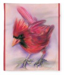 Jaunty Redbird Cardinal Fleece Blanket