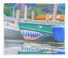 Jaws Fleece Blanket