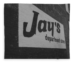 Jay's Department Store In Bw Fleece Blanket