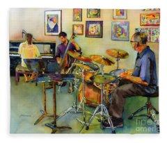 Jazz At The Gallery Fleece Blanket