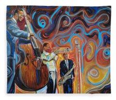 Jazz Brother  Fleece Blanket