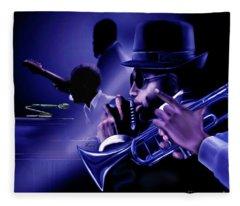 Jazz In Da Dusk Fleece Blanket