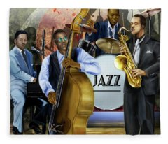Jazz Jazz Jazz Fleece Blanket