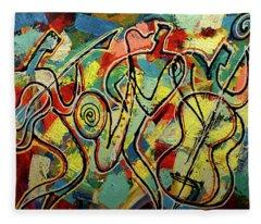 Jazz Rock Fleece Blanket