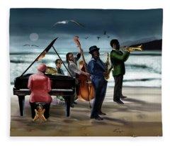 Jazz The Cool Of The Ocean Fleece Blanket