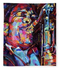 Jazz Trane Fleece Blanket