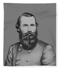 Jeb Stuart -- Confederate General Fleece Blanket