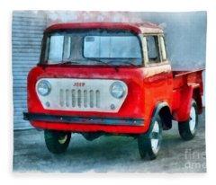 Jeep 1959 Fc150 Forward Control Pickup Fleece Blanket