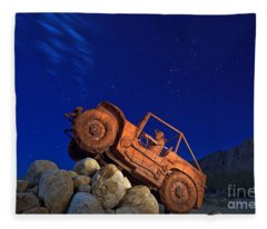 Jeep Adventures Under The Night Sky In Borrego Springs Fleece Blanket
