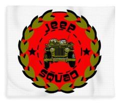 Jeep Squad Fleece Blanket