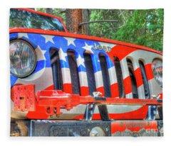 Jeep Usa Fleece Blanket