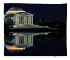The Jefferson At Night Fleece Blanket