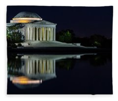 The Jefferson At Night Fleece Blanket