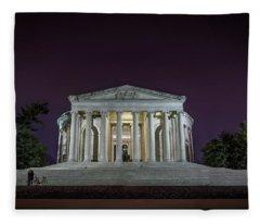 Jefferson At Night Fleece Blanket