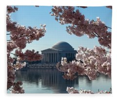 Jefferson Memorial At Cherry Blossom Time On The Tidal Basin Ds008 Fleece Blanket
