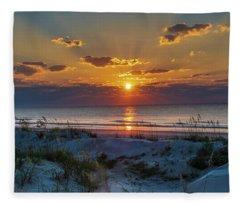 Jekyll Island Sunrise Fleece Blanket