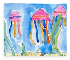 Jellyfish Fleece Blanket