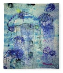 Jellyfish I Fleece Blanket
