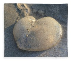 Jellyfish With A Big Heart Fleece Blanket