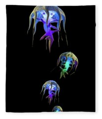 Jellys In Space Fleece Blanket