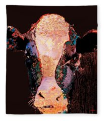 Jemima The Cow Fleece Blanket