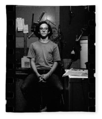 Self Portrait, In Darkroom, 1972 Fleece Blanket