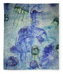 Jellyfish II Fleece Blanket