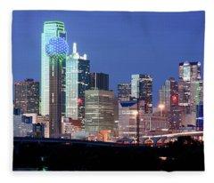 Jerry's Dallas Skyline Fleece Blanket