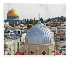 Jerusalem Domes Fleece Blanket