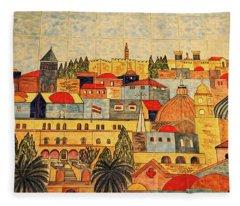 Jerusalem Tiles Fleece Blanket